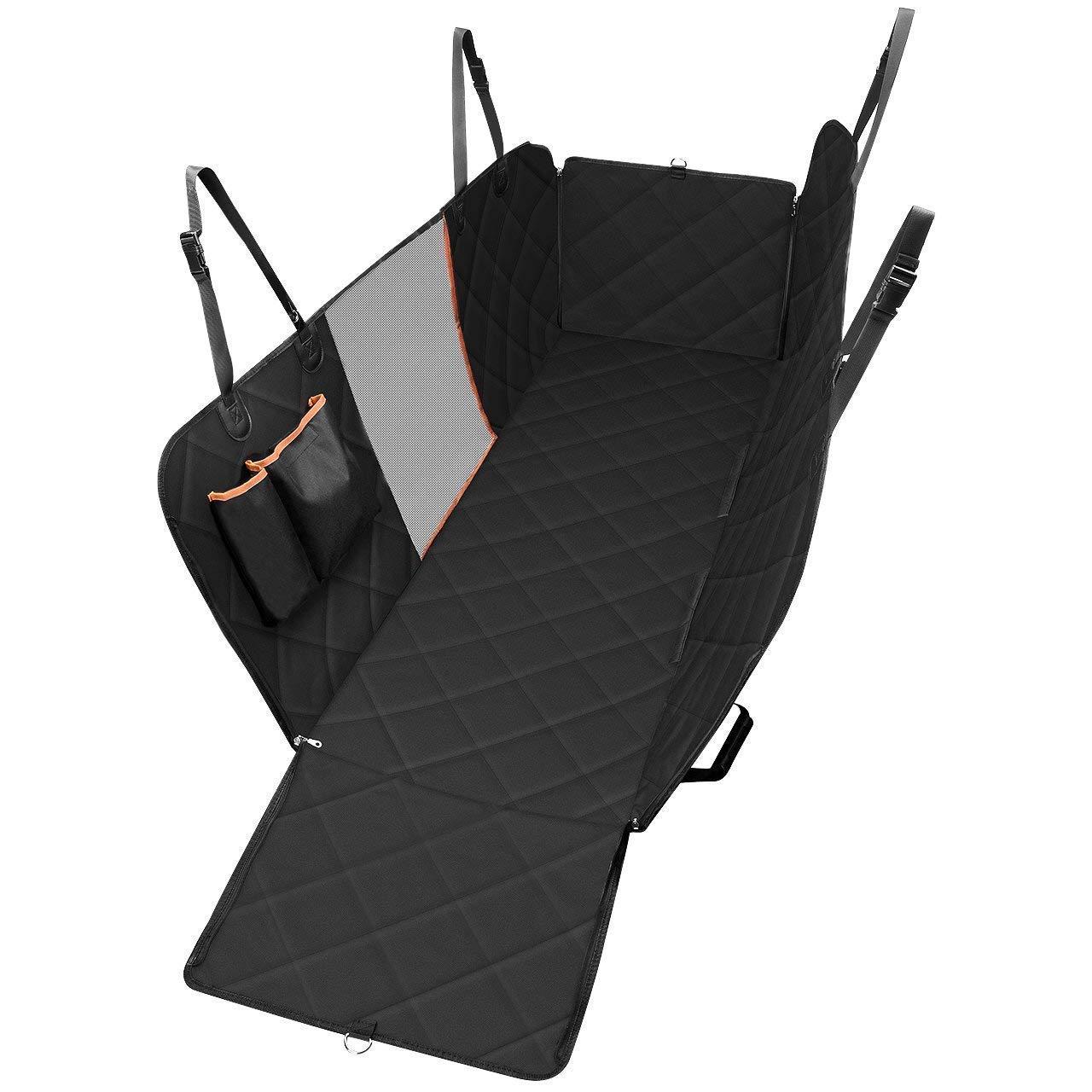 Couverture pratique de siège d'animal familier, couverture de siège de voiture de chien avec la fenêtre de visualisation de maille et la poche de stockage, hamac de chien imperméable Non-rayure Lar