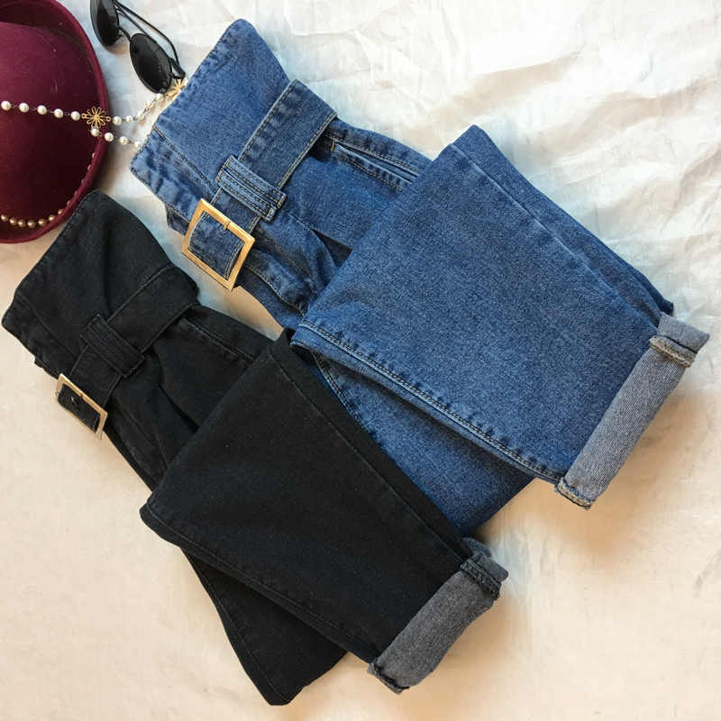 S-5XL Plus Size New Fashion Lady Bud Sashes Jeans Women s Solid Thicken  Regular Pants 7a35b344d0d5