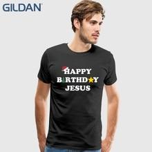 Happy Birthday Jesus T Shirt Men Mans Creative Custom Short Sleeve Valentines Xxxl Couple Tee Shirts