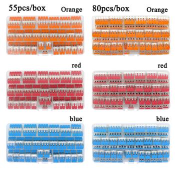 Drutu zestaw łączników pudełko uniwersalny kompaktowy zacisk blok oświetlenie drutu złącze dla 4 pokój hybrydowy szybkie złącze tanie i dobre opinie RUOXI CH-412 413 414 415 terminal block CAGE CLAMP CONNECTION 0 2 - 4 mm2 AWG 24-12 Cu Aging for Electronic Product Quick Disconnect Connectors