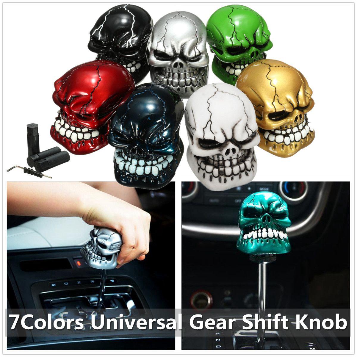 Universal Skull Head Style Car Truck Manua Stick Gear Shift Knob Lever Shifter