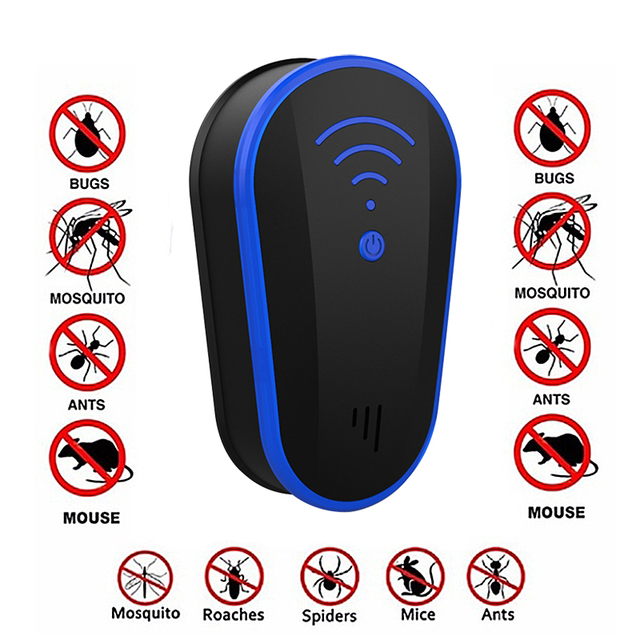 Multi functional Ultrasound Anti Mosquito Insect Repeller Rat Mouse Cockroach Pest Reject Repellent EU/US Plug Repellent Killer