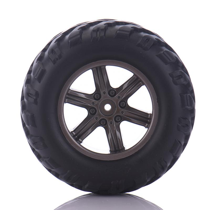1 Pair of 15-ZJ01 Car Tyres With Sponge Car <font><b>Parts</b></font> for <font><b>S911</b></font>/9115 <font><b>RC</b></font> Car HSP Off Road Monster Truck Wheels Models Racing <font><b>RC</b></font> Car image