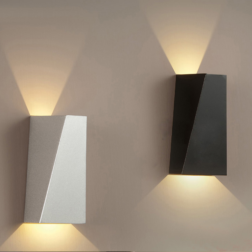 Luminaires de jardin modernes 12 W, éclairage led étanche, 12 W, haut et bas, AC85-265 V
