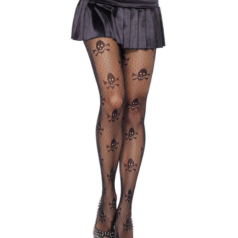 New Sexy Women Sheer Net Skull Stretch Gaiters Boothoses High Waist Leginy Black Leggings Women  Mesh