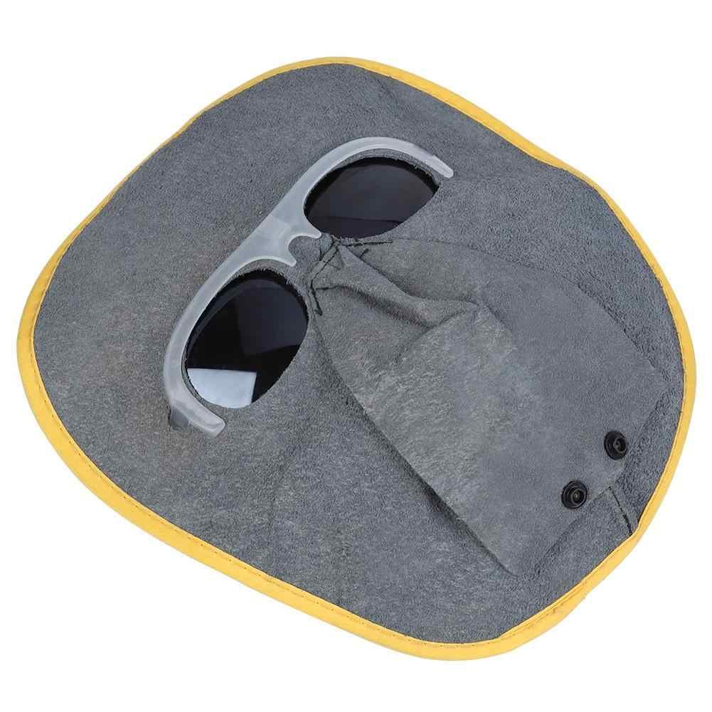 Сварочная маска для головы из коровьей кожи, защитный шлем, сварочный аппарат с УВД, поляризованные очки, сварочный шлем