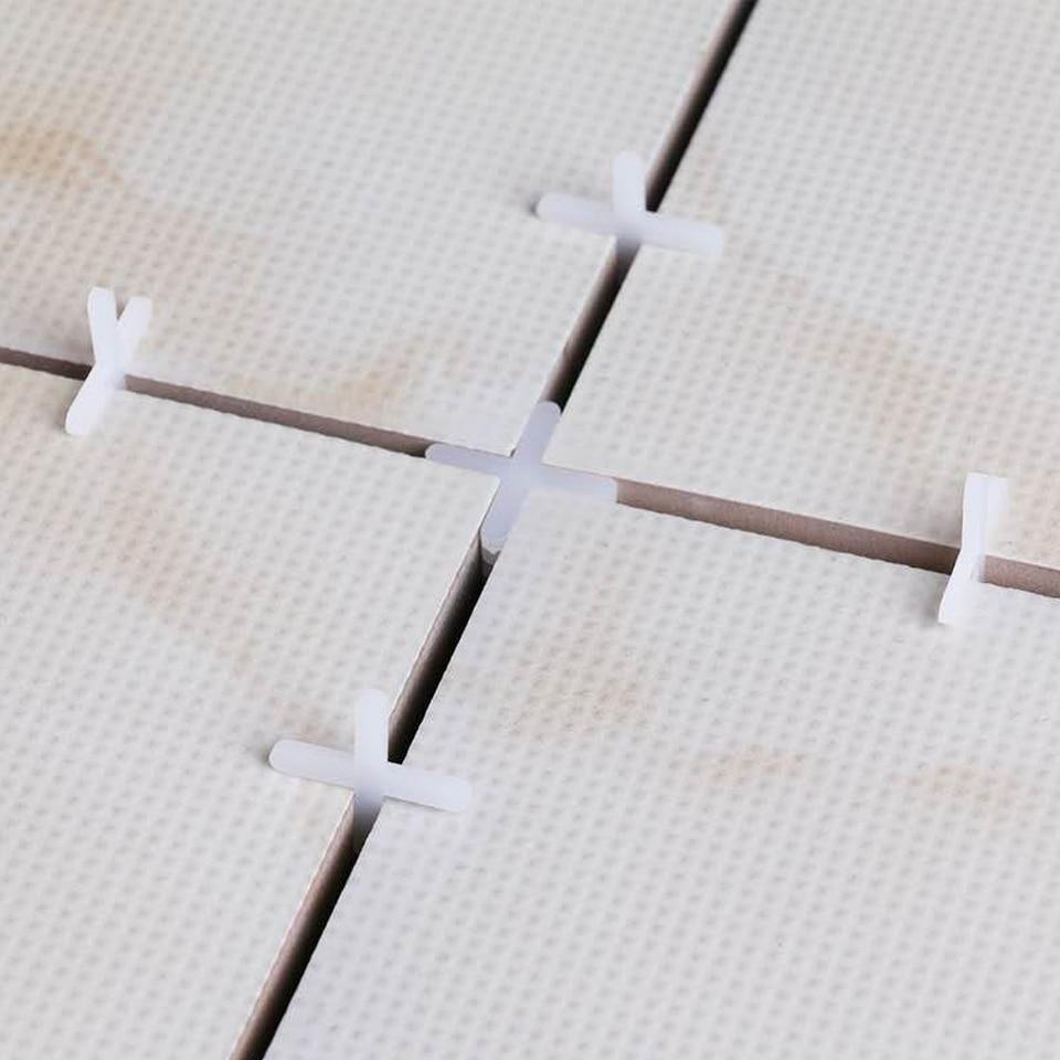 1000 Pcs Witte Tegel Spacer Tegel Kruis Plastic 1.5/2/2.5/3/5/6mm Betegelen Tool Keramische Tegelzetters Loodgieters Azulejos Spacer Telha Cruz