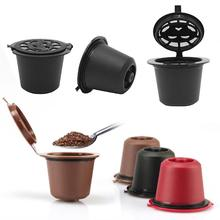 1PC Reusable Refillable Coffee Capsule With Spoon Plastic Filter Pod For Nespresso Machine Refill
