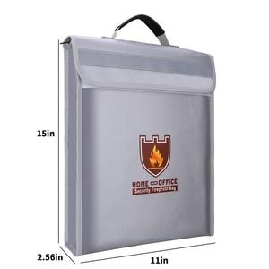 Image 2 - حريق حقيبة مستندات حامل الحقيبة الرئيسية مكتب حقيبة آمنة النار مقاومة للماء مجلد ملفات حقيبة التخزين الآمن