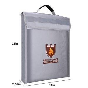 Image 2 - Bolsa portadocumentos a prueba de fuego, bolsa de seguridad para el hogar y la Oficina, resistente al fuego, carpeta de archivos, bolsa de almacenamiento segura