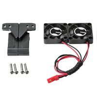 Radiator Cooling Twin Fans For 1/10 TRX 4 TRX4 RC Car Parts Plastic 7.4 12V Engine Radiator Double Fans