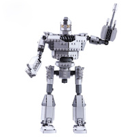 New 818Pcs MOC Small MIni Particle Building Block Iron Giant Model Kit for 100% Building Block Brands Birthday Gift For Kids