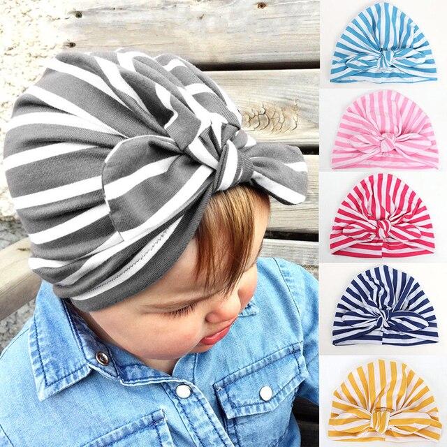 2019 recién nacido Niño niños de bebé niños niñas turbante de algodón  Beanie sombreros de invierno 393ec52343e