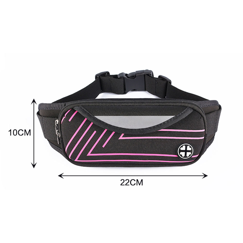 KISSCASE Fashion Nylon Pouch Waist Pack Unisex Practical For Mobile Phone Outdoor Sports Travel Money Bag Case Cover Waist Pack in Phone Pouches from Cellphones Telecommunications