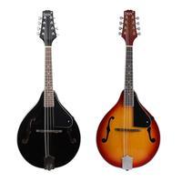 8 String Sunset Color Black A Type Mandolin Musical Instrument