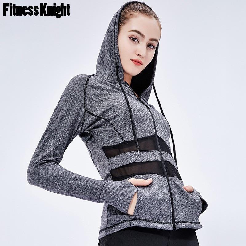 Running Jacket Fitness Women Sports Jacket Hoodie Sweatshirt Jacket Coat Breathable Long Sleeve Workout Yoga Jacket Sports Wear