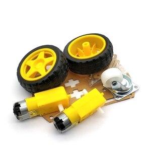Image 5 - Akıllı Robot araba 2WD Motor şasi/izleme araba kutu kiti hız Encoder pil kutusu ile Arduino Diy kiti için