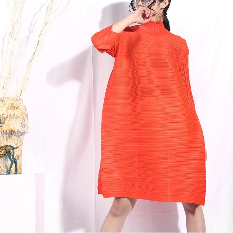 שמלת צווארון אופנה סטריאוסקופית
