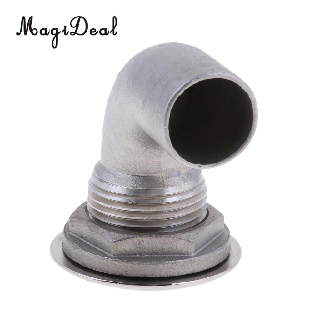 MagiDeal 25mm 316 Stainless Steel Boat Deck Drain Scupper 90 Degree Water Sports Rowing Boats For Kayak Canoe Rafting Boating