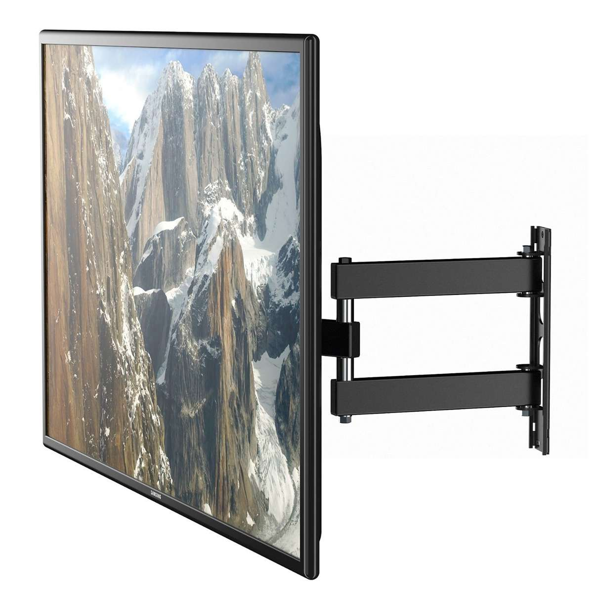 1 pièces support mural TV 180 degrés support de rotation prend en charge 17-55 pouces LED écran plat LCD support télescopique universel - 4