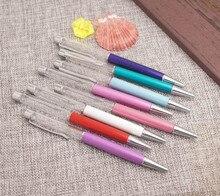 10 adet/grup boş tüp tükenmez kalem olmadan altın folyo Diy kendiniz kalem