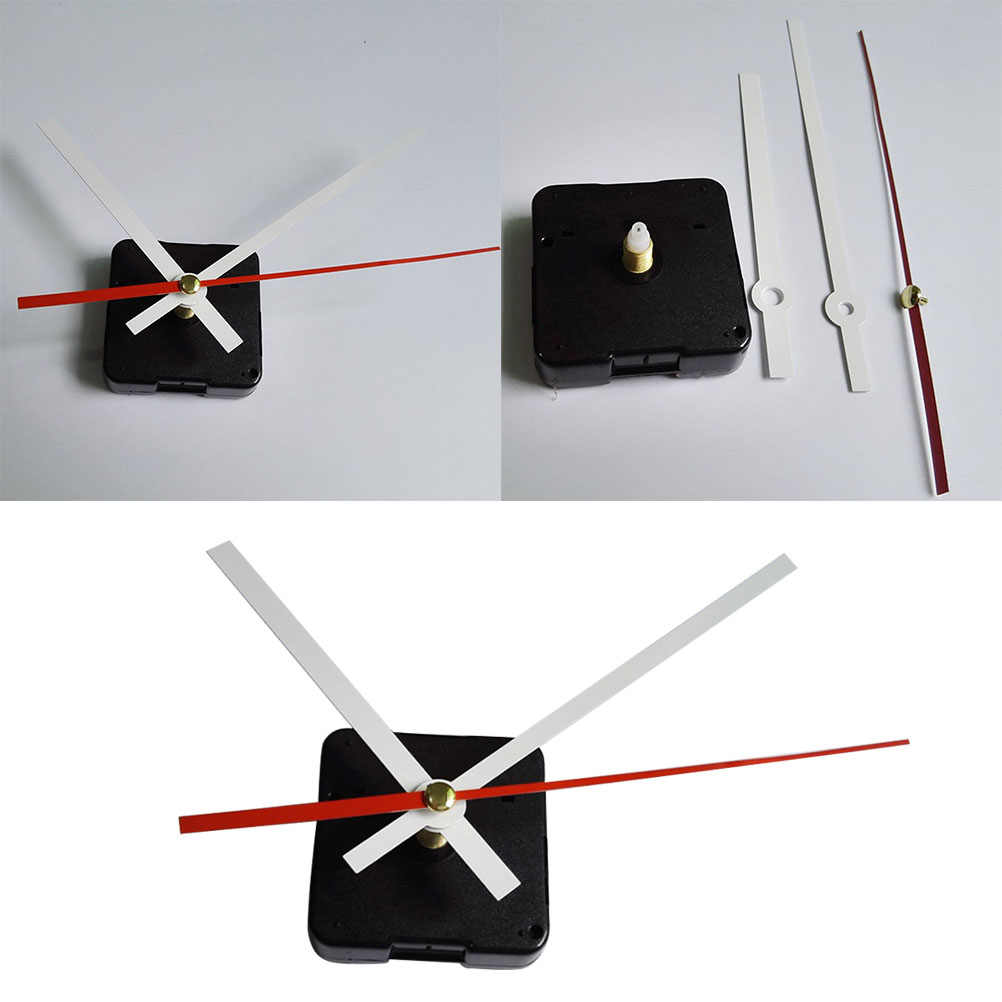 Wyciszenie zegar ścienny ruch zestaw zestaw proste cichy długi ruchu osi zestaw do domu w hotelu szkoły (opakowanie bez baterii)