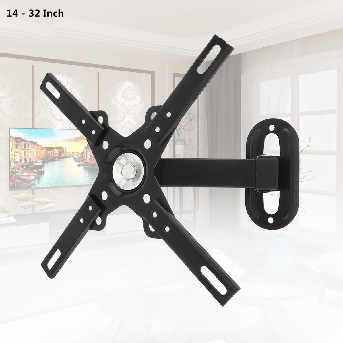 Universal 12KG Adjustable TV Wall Mount Bracket Flat Panel TV Frame Support 30 Degrees with Small Wrench for 14 - 32 Inch LCD LE