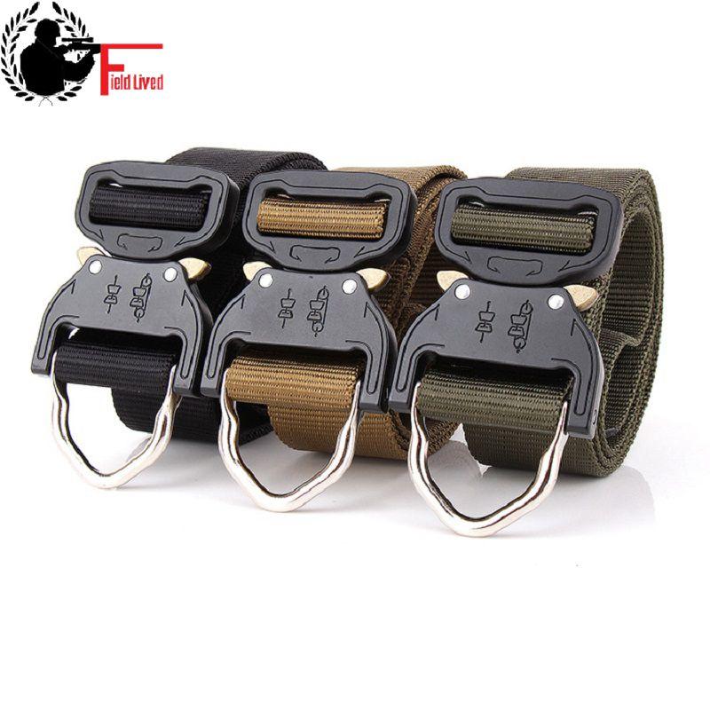 TACTICAL BELT SWAT Combat Heavy Duty Knock Off Men US Soldier Military Equipment Army Gear Belt Training Nylon Waistband metal