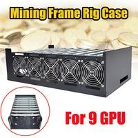 Crypto монета Open Air Шахтер добыча рамки Rig графика чехол для 9 GPU ETH BTC горизонтальный компьютер сервер машины шасси