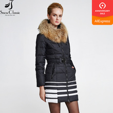 collar Winter real Jacket