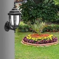 Domu na zewnątrz Garland Retro ścienny deszcz dowód światła Żyrandol ogród portyk Patio aluminium latarnia Cube Led dekoracji w Zewnętrzne lampy ścienne od Lampy i oświetlenie na