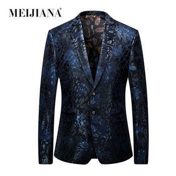 Dress Stylish Coat Floral Elegant Blaser Floral Mens Masculino Jacket Latest Wedding Men MEIJIANA Blazer Vintage Design - DISCOUNT ITEM  40 OFF Men\'s Clothing
