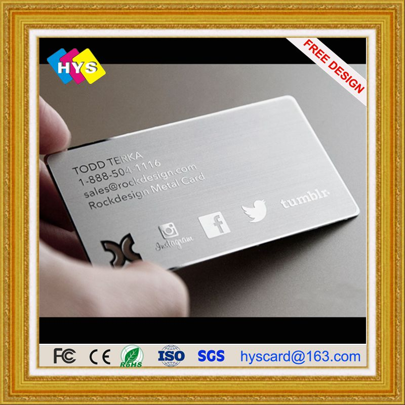 kad logam dan kad keluli tahan karat Emas, bekalan kad perniagaan logam logam