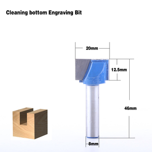 Image 4 - 10 ピース 8 ミリメートルクリーニングボトムビット彫刻ビット超硬 10,12 、 14,16 、 18,20 、 22,25 、 28,30 ミリメートル径の Cnc フライスカッター
