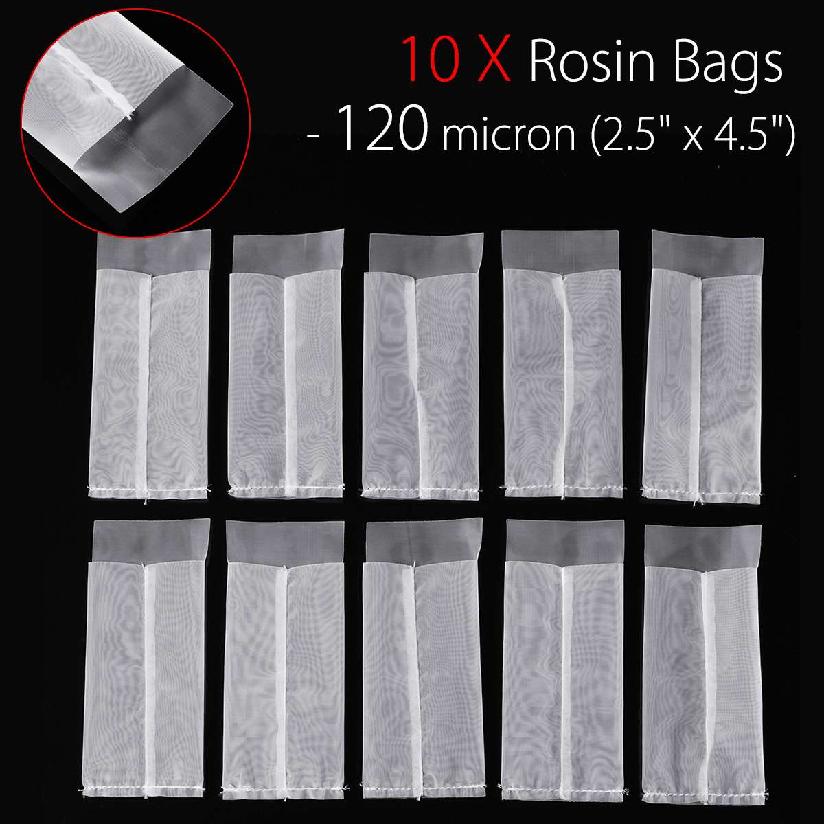 Filter Bags 25 Micron, 25 2 x 4.5 Rosin Extraction Micron u