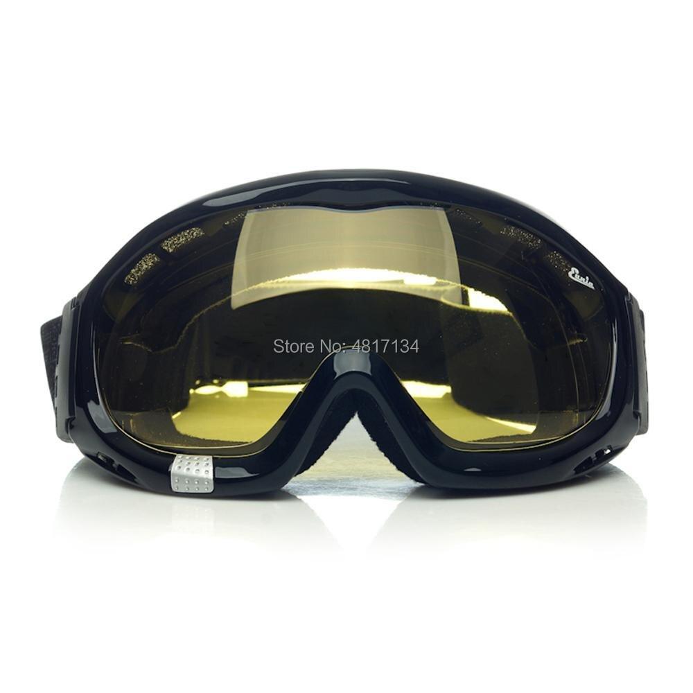 'Fit Over Glasses' (OTG)Anti-fog Riding Goggles with Sponge Liner Adjustable Elastic Headband