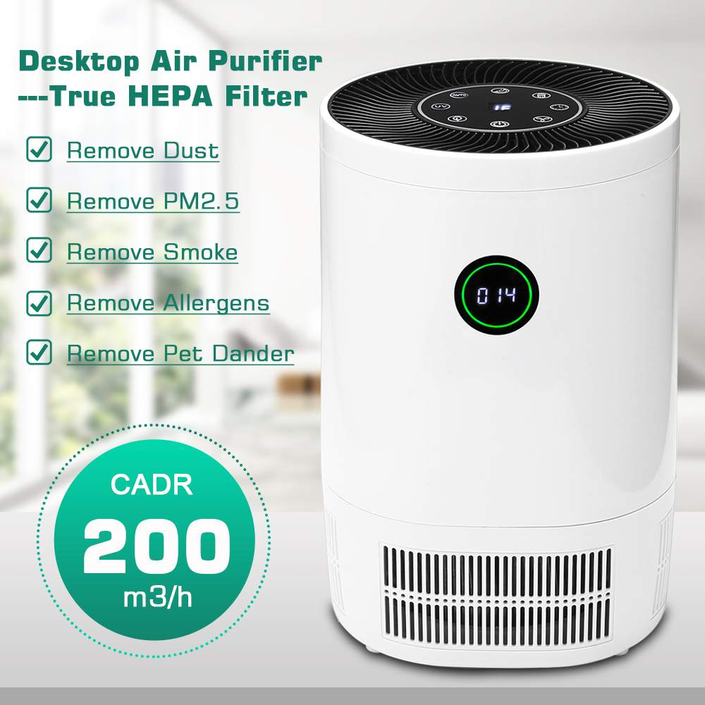2019 New Air Purifier With True HEPA Filter Large Room Air Cleaner Remove Formaldehyde Smoke Dust Odor Purification Air Purifier(China)