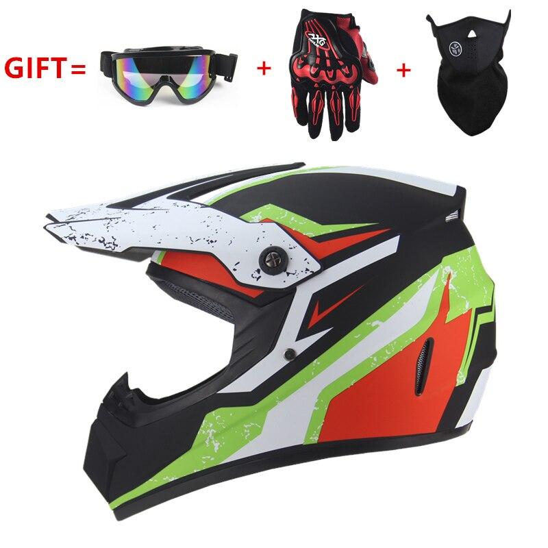 Casque de moto ultra léger pour la course Casque de vélo cartoon pour enfant ATV Dirt motocross Vélo de descente VTT DH casque de cross