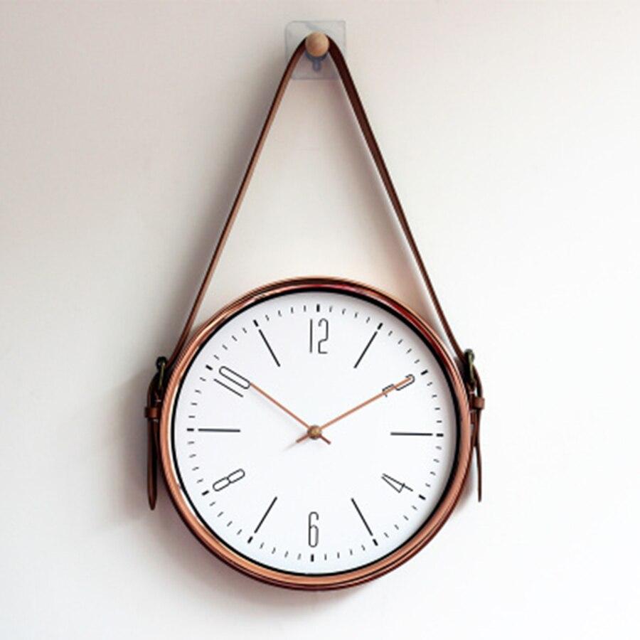 Creative moderne ceinture horloge murale salon 3d décor mural maison nordique Design Reloj De Pared grandes horloges mur décor à la maison 50ZB0076