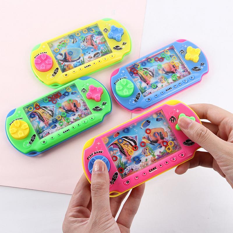 Billede af Vintage Water Game Machine Share Childhood Memory Funny Ability Develop Challenge Ring Game Kids Favorite Toy -Random Color