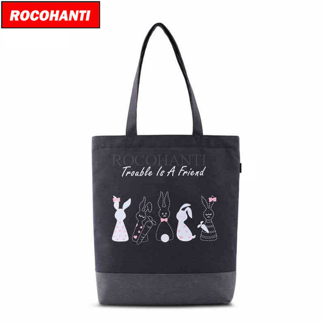 b66c9c21769 US $39.99 |NEW Style Heavy Duty Custom Print Black Cotton Canvas Boat Tote  Bag F2115-in Top-Handle Bags from Luggage & Bags on Aliexpress.com | ...