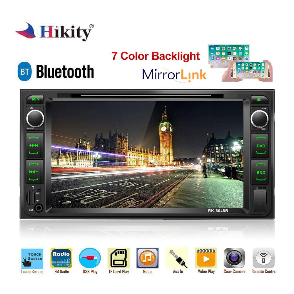 "Hikity 2 din autoradio 2din 7 ""lecteur Mutimidia android mirrorlink DVD autoradio Support volant caméra RDS autoradio"
