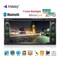 Hikity 2 din Car Radio 2din 7 Mutimidia player android mirrorlink DVD autoradio Support Steering Wheel Camera RDS Car stereo