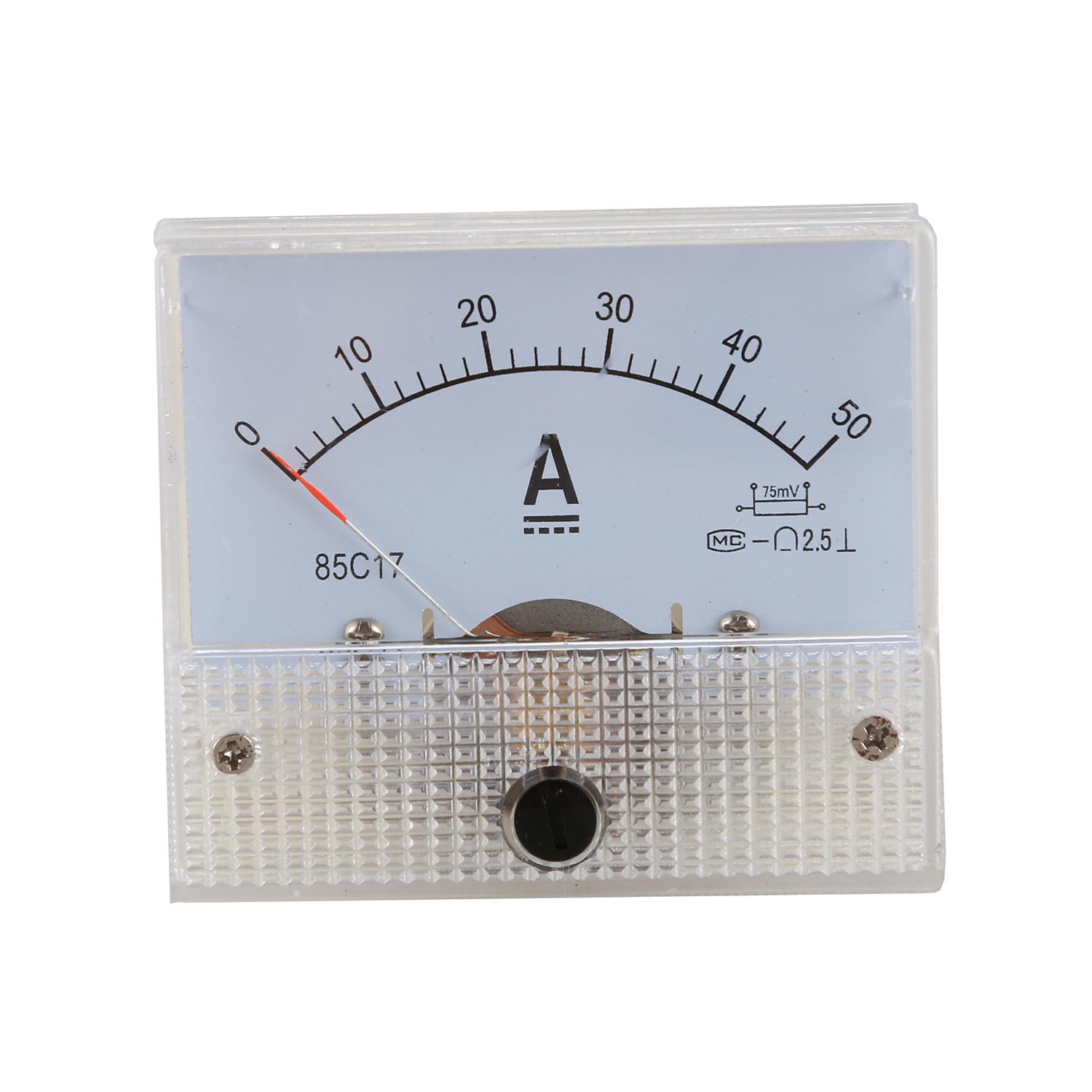 DC 0-50A Analog Amp Meter Ammeter Current Panel + 50A 75mV Shunt Resistor