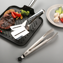 3pcs 304 stainless steel food clip can be folded with fixed frying shovel, steak tool, kitchen utensils,