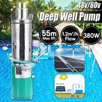Solar Pump 48/60V DC Deep Well Submersible Pump Max lift 55m for home Water Transfer solar pump for garden