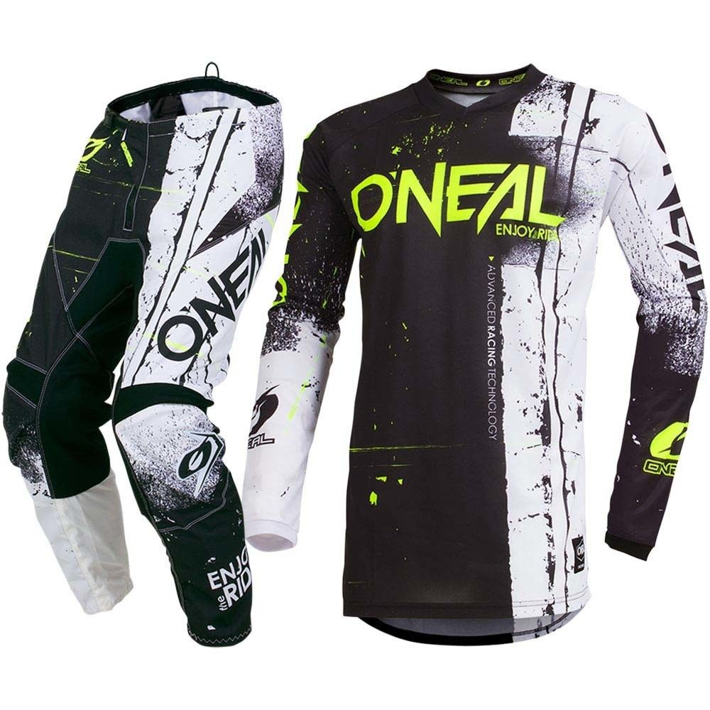 Element Shred Mx Children Jersey and Trousers 2019 Schwarz Motocross ATV MTB DH Racing Jersey Pant цена
