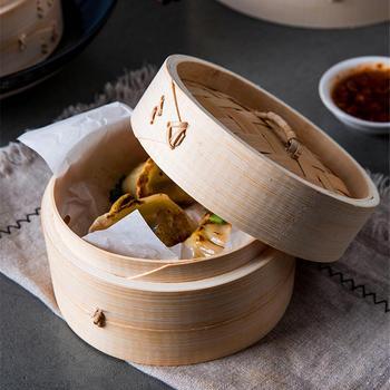 במבוק ספינת קיטור עם כיסוי דגים אורז חטיף ירקות להבל סל מטבח Ooking ספינת קיטור חימום כלי בישול