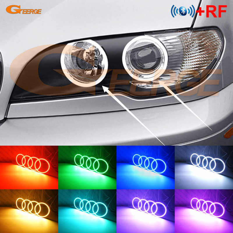 For Bmw 3 Series E46 325ci 330ci Coupe Cabrio 2004 2005 2006 Lci Rf Bluetooth Controller Multi Color Rgb Led Angel Eyes Kit