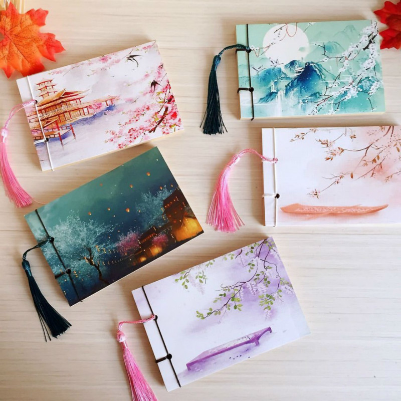 Vintage Sketchbooks Chinese Style Retro Bullet Journal Notebook Weekly Planner Notepad School Stationery Store Supplies 016007